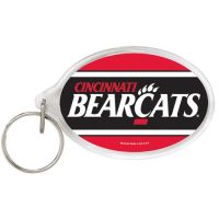 University of Cincinnati Acrylic Key Ring Oval