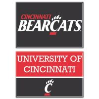 "University of Cincinnati Rectangle Magnet, 2 Pack 2""x3"""
