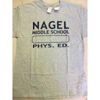 Nagel Middle School Gray Tee Shirt