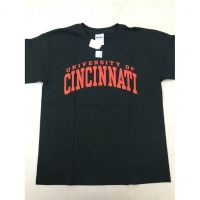 Youth Black Universy of Cincinnati Tee