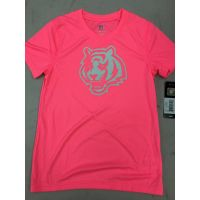 Pink Girls Youth Tiger Head Logo Cincinnati Bengals Tee