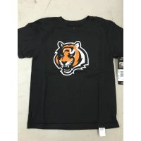 Black Youth Tiger Head Logo Cincinnati Bengals Tee