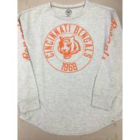 '47 Brand Women's Gray Cincinnati Bengals 1968 Long Sleeve Tee
