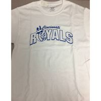 White Cincinnati Royals Mascot Tee Shirt