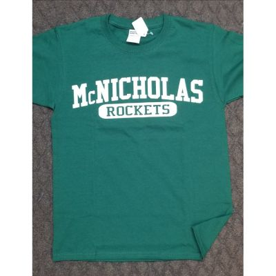 McNicholas Rockets Dark Green Tee
