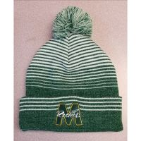McNick Green and White Beanie