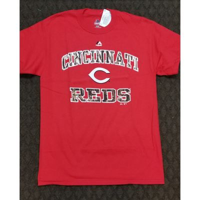 Majestic Cincinnati Reds Red Shirt With Logo
