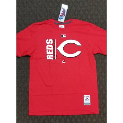 Cincinnati Reds Mens Red Tee With Logo