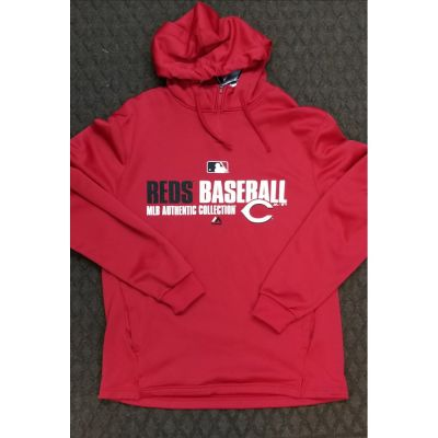 Cincinnati Reds Authentic Collection Red Hoodie