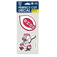 Cincinnati Reds Perfect Cut Decal Set of Two 4