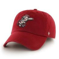 '47 Brand CIncinnati Reds All Red Mr. Redlegs Baseball Cap