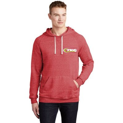 JERZEES Snow Heather French Terry Raglan Hoodie