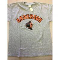 Anderson Redskins Gray Colored Head Tee Shirt