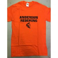 Anderson Redskins Orange Small Head Tee Shirt