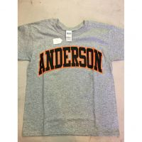 Anderson Redskins Gray Outline Tee Shirt