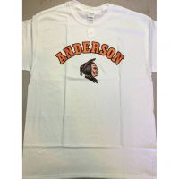 Anderson Redskins White Colored Head Tee Shirt