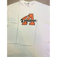 Anderson Redskins White Feathered A Tee Shirt