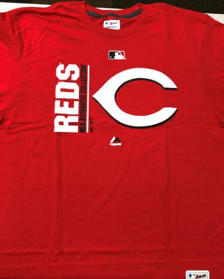 Majestic Cincinnati Reds Authentic Collection Vertical Tee