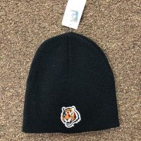 Black Bengals Tiger Head Logo Beanie
