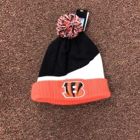 '47 Brand Black, White & Orange Bengals Beanie