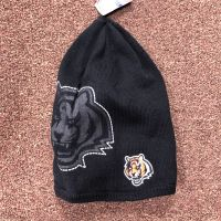 Reebok Black Cuffless Knit Bengals Outline Beanie