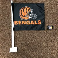 Black Bengals Car Flag