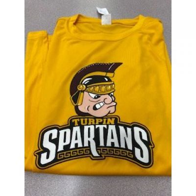 Turpin Spartans Gold Mascot DRI-FIT Tee Shirt