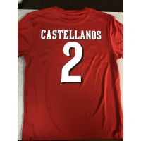 "Majestic Dri-Fit Cincinnati Reds Red  ""Castellanos"" Shirt"