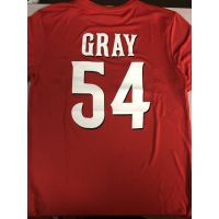 "Majestic Dri-Fit Cincinnati Reds Red ""Gray"" Shirt"