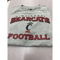 Adidas University of Cincinnati Athletic Heather Youth Football Tee
