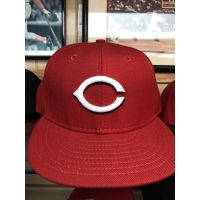 New Era 50Fifty All Red C Logo Cincinnati Reds Baseball Cap