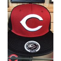 OC Sports Red w/ Black Bill C Logo Cincinnati Reds Baseball Cap