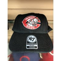 '47 Brand Franchise All Black Cincinnati Reds Baseball Cap