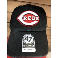 '47 Brand Cleanup All Black C Logo Cincinnati Reds Baseball Cap