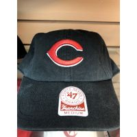 '47 Brand Franchise All Black C Logo Cincinnati Reds Baseball Cap