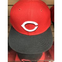 OC Sports Red w/ Black Bill C Logo Adult Cincinnati Reds Baseball Cap