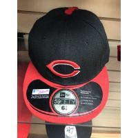 New Era 50Fifty Black w/ Red Bill C Logo Cincinnati Reds Baseball Cap