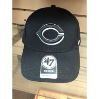 '47 Brand MVP All Black Cincinnati Reds Baseball Cap