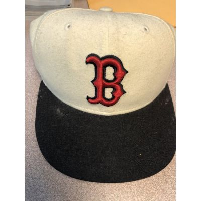 New Era 5950 White/Navy Boston Red Sox Cap