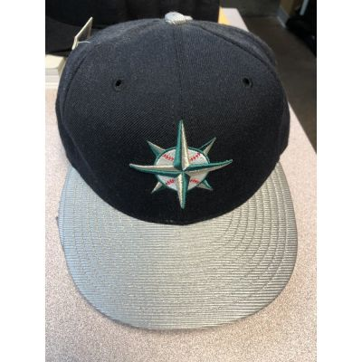 New Era 5950 Navy/Silver Seattle Mariners Cap