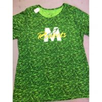 McNick M Logo Green Stonewashed Women's Tee Shirt