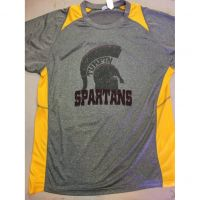 Turpin Spartans Gray w/ Yellow Trim Dri-Fit Shirt