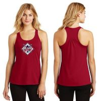 Anderson Aces Ladies Solid Gathered Racerback Tank