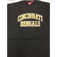 Black Cincinnati Bengals Orange Letter Tee