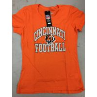 Orange Cincinnati Football Women's Bengals Tee
