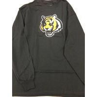 Reebok Black Cincinnati Bengals Tiger Head Long Sleeve Tee