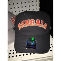 '47 Brand Black Women's Bengals Orange Text Hat