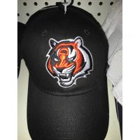 NFL Black Cincinnati Bengals Large Tiger Head Hat