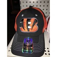 '47 Brand Black w/ Orange Back Closer Cincinnati Bengals Large B Logo Hat