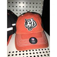 NFL Team Headewear Orange Cincinnati Bengals White Tiger Head Hat